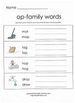 op family worksheet