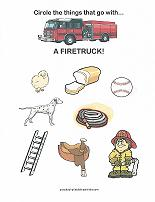 things that go with a firetruck worksheet