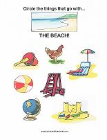 things at the beach worksheet