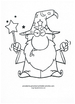wizard coloring page