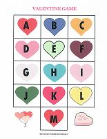 valentines alphabet match game