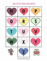 valentines day alphabet match game