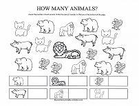 counting animals worksheet - Animal Worksheets For Preschoolers