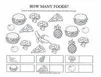 counting foods worksheet
