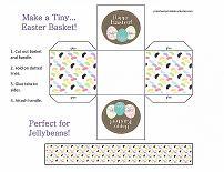 printable easter basket craft for preschoolers