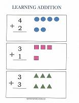 basic addition worksheet