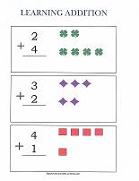 preschool math addition