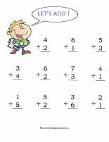addition worksheet