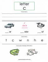 letter C worksheet