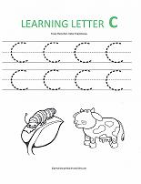 Worksheet Letter C Worksheets Preschool alphabet worksheets letter c worksheet