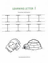 letter I worksheet