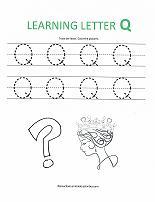 letter Q worksheet