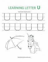 letter U worksheet