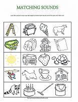 matching sounds worksheet