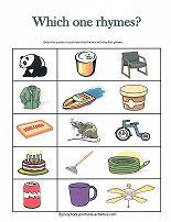 words that rhyme worksheet