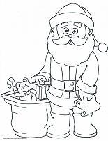 santa coloring page