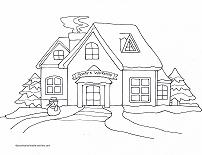 santas workshop coloring page
