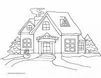 santa's workshop coloring page