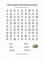 transportation word search