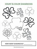 color and count shamrocks