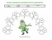 color a shamrock rainbow
