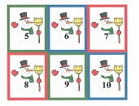 snowman theme counting cards