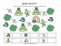 st patrick's day counting worksheet