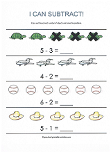 math worksheet : free subtraction worksheets : Subtraction Worksheets For Preschool