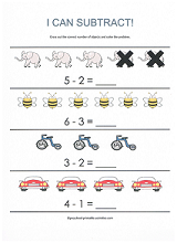 beginning subtraction worksheet