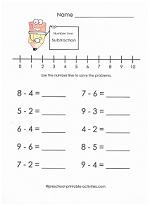 Free subtraction worksheets beginning subtraction with number lines worksheet ibookread ePUb