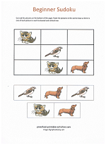 picture sudoku puzzles for kids