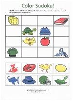 color match sudoku puzzle