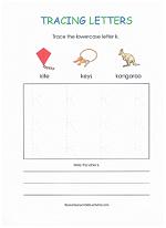 tracing k worksheet