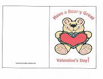 valentine card bear