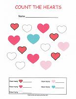 valentine worksheets for preschoolers