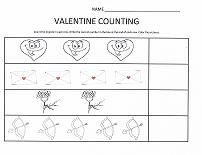 counting worksheet valentines day