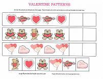 valentine pattern worksheet