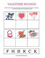 valentine sounds worksheet