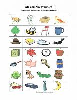 Printables Rhyming Worksheets rhyming worksheets match words