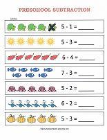 preschool subtraction worksheets