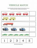 number worksheets counting vehicles worksheet