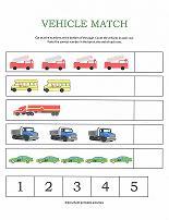 Number Worksheets Counting Vehicles Worksheet