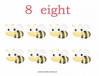 8 bugs counting card
