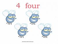 4 bugs counting card