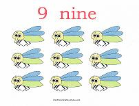 9 bugs counting card