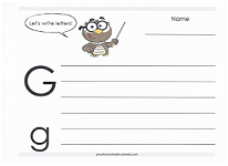 practice writing capital and lowercase g