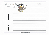 practice writing capital and lowercase i