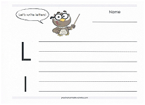 practice writing capital and lowercase L