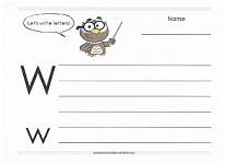 practice capital and lowercase w