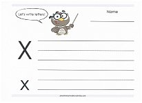 practice writing capital and lowercase x